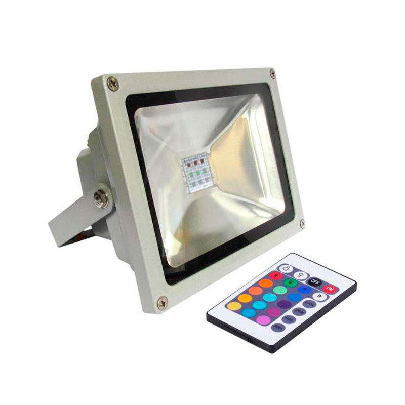 Led outdoor flood light MICROLED, 20W, RGB, RGB